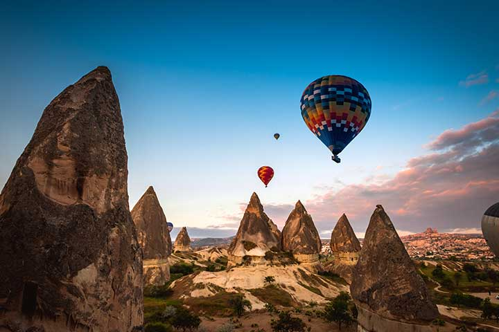 Valleys of Cappadocia with Balloons