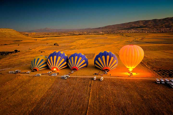 Hot-air Balloons in Cappadocia