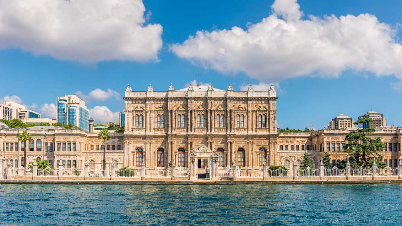 Dolmabahce Palace from Bosphorus