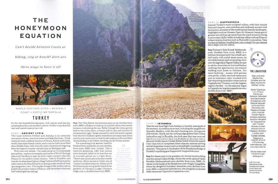 Elle Honeymoon Equation Turkey