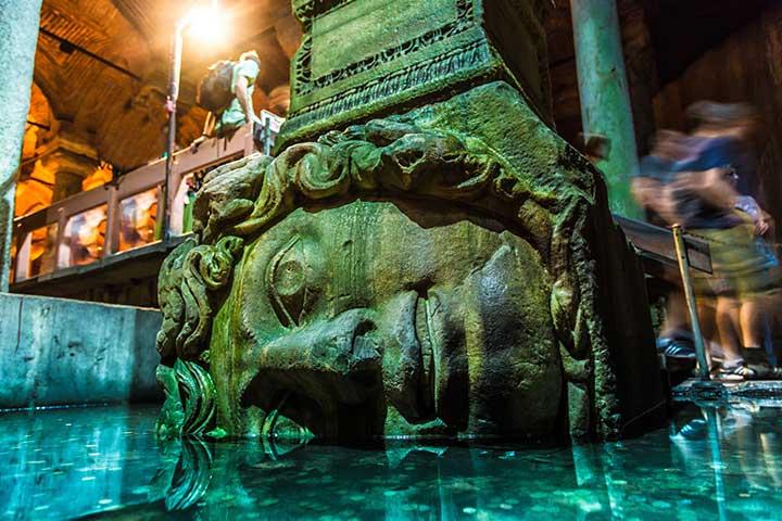 Medusa Head in Basilica Cistern Istanbul