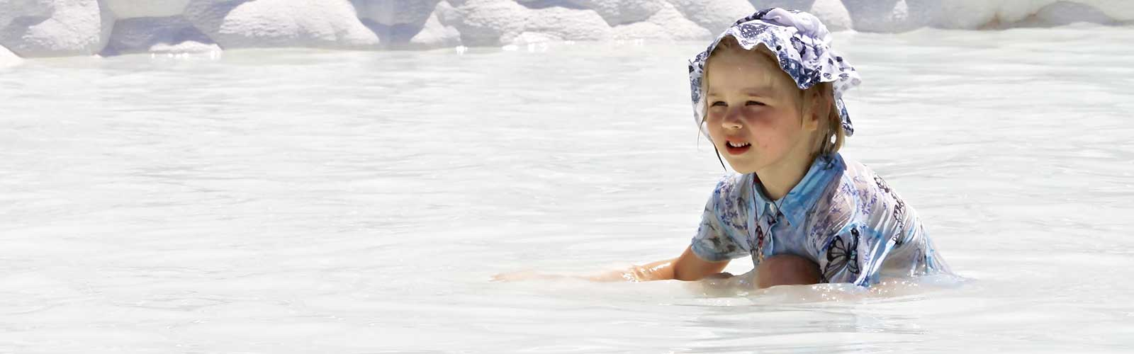Kid at Pamukkale Thermal Pool