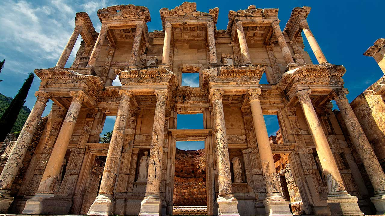 Unesco World Heritage Site Celcus Library Ephesus Turkey