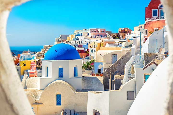 santorini-greece-blue-dome