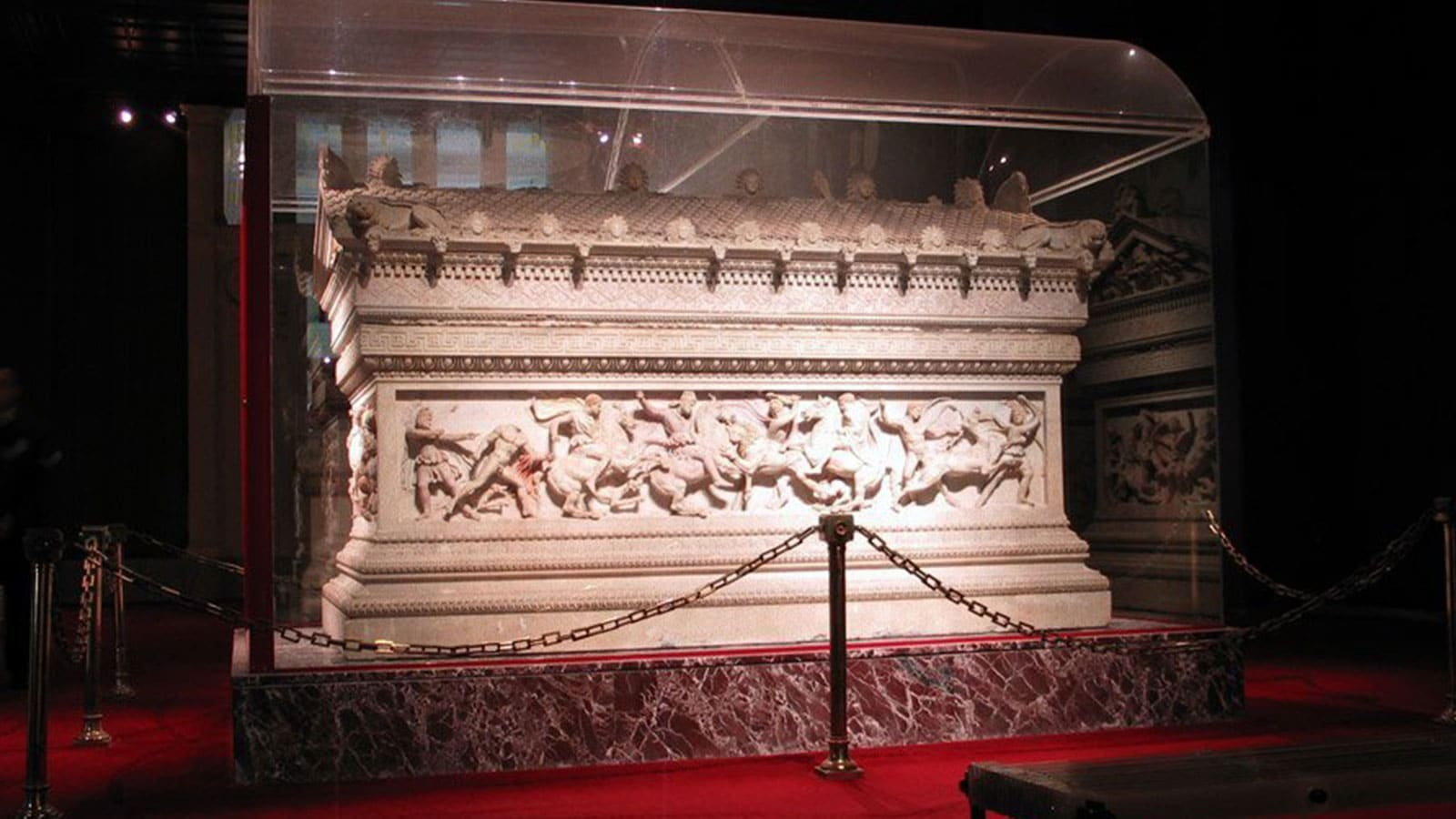 The Alexander Sarcophagus at Istanbul Archaeology Museum