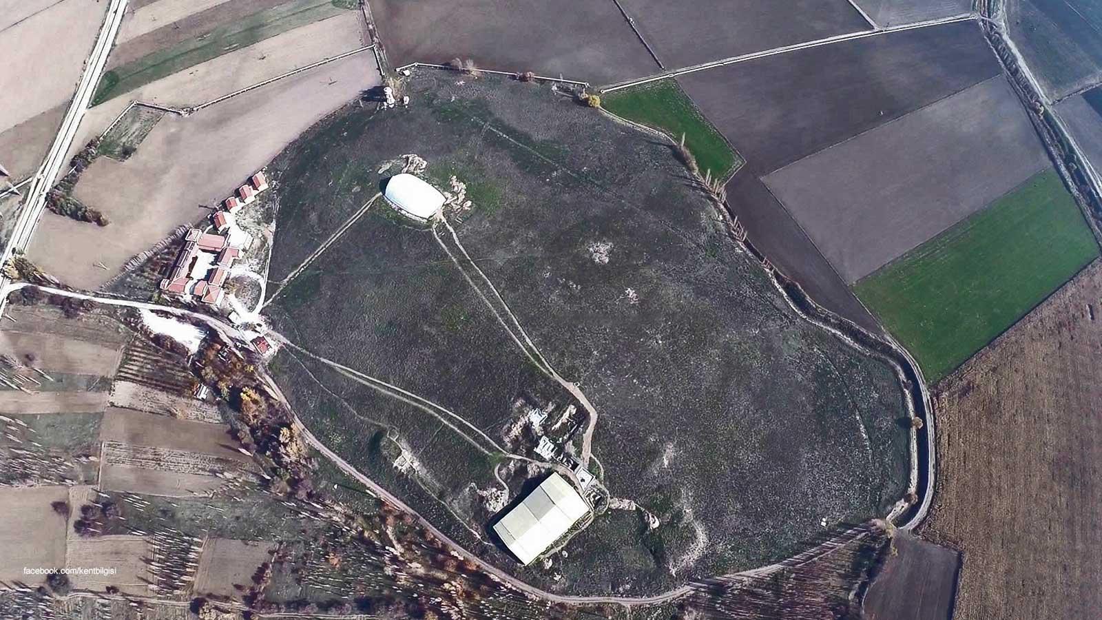 Catalhoyuk City Map Aerial