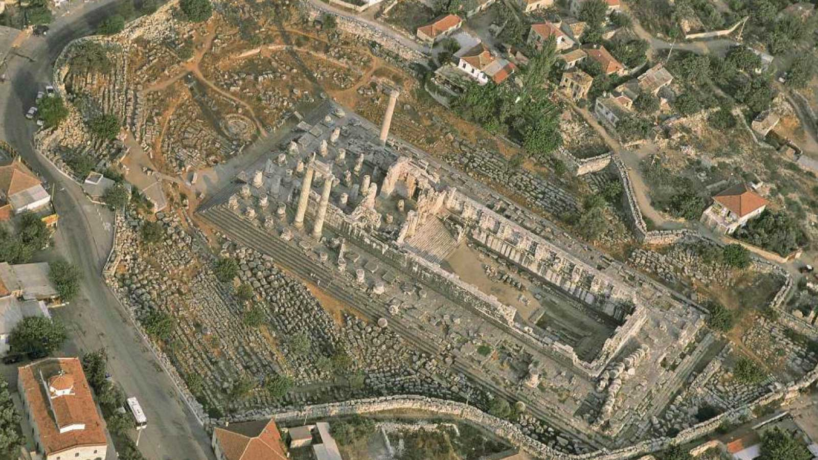 Temple of Apollo Didyma Aerial Photo