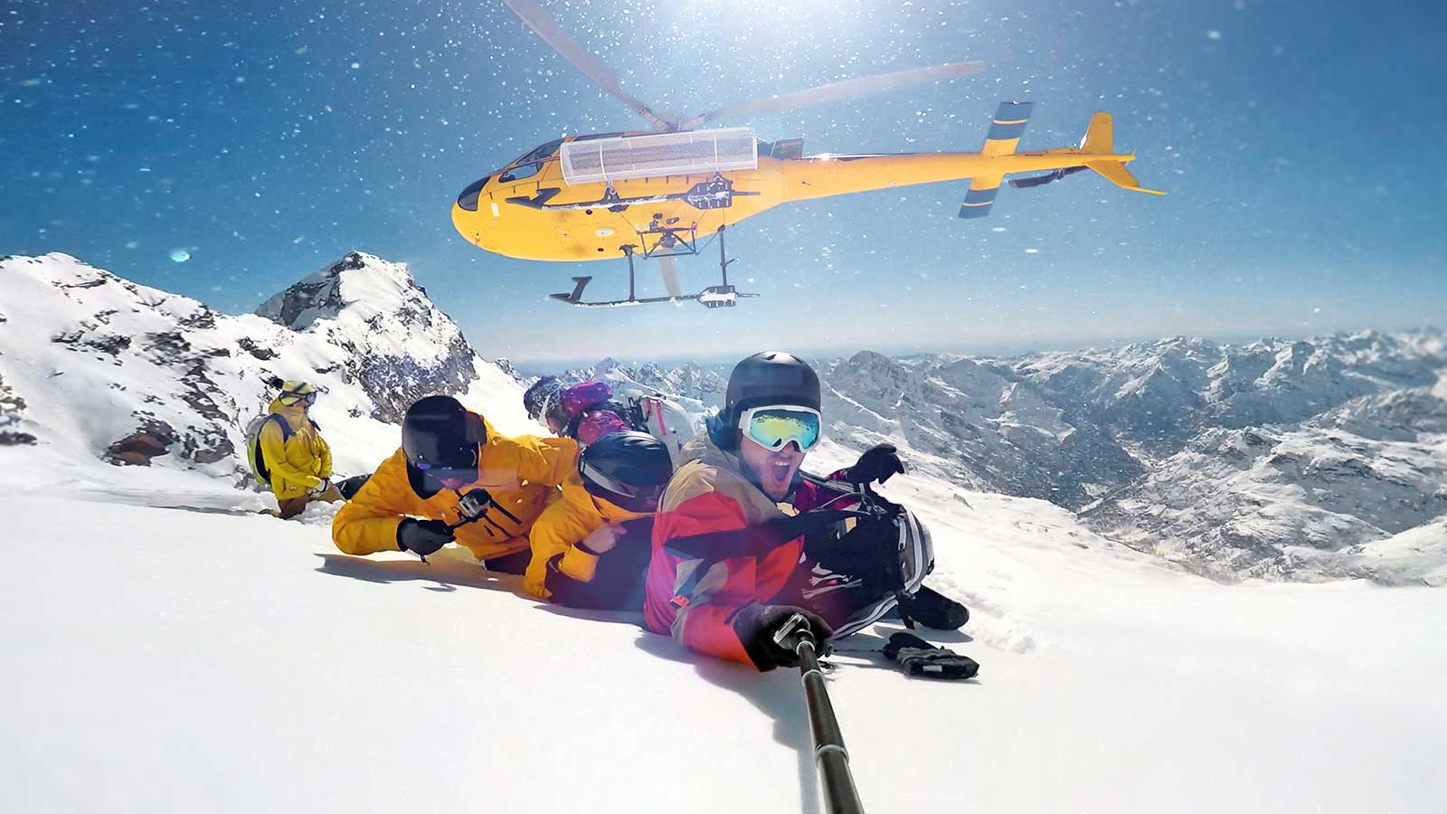 Heliskiing in Black Sea Kackar Mountains in Turkey