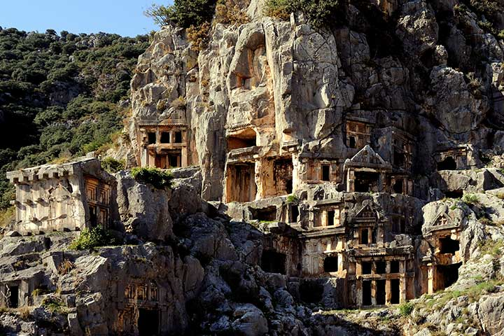 Myra Lycian Rock Tombs