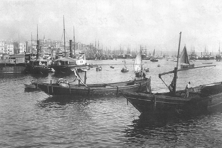 Old Boats in Karakoy Eminonu Istanbul